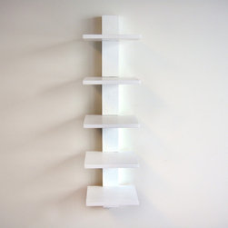 Spine Wall Book Shelves White - Spine Wall Book Shelves White provides storage and display space for all your favorite books, DVDs, and decorations. It has a slender modern design which save space.