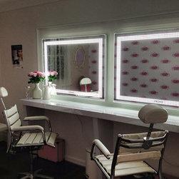 Lighted Mirrors - Glamcor Socialite mirror, 4' x 3'