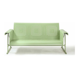 Crosley - Veranda Sofa Glider in Oasis Green - Dimensions:   Height 33.25 Width 30.75  Length 72