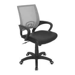 Lumisource - Officer Office Chair, Silver - 23 L x 19 W x 36 - 40 H