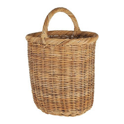 Eco Displayware - Tall Kindling Rattan Basket in Natural - Great for closet, bath, pantry, office or toy and game storage. Earth friendly. 19 in. L x 17 in. W x 20 in. H (23.49 lbs.)These natural colored baskets add warmth and charm and keep you organized.