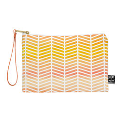 DENY Designs - DENY Designs Rebecca Allen Sunset Bliss Pouch - You name it, DENY's Pouches hold it! Available in two sizes and styles, you can use our water repellent pouches for cosmetics, perfume, jewelry, pencils and even an Ipad mini! And did we mention that the small size doubles as a wristlet? With a coordinating color strap and interior lining, you can throw it into a larger bag or use it on the go as a clutch to hold your phone, credit cards and various other essentials. It's a party in a bag!