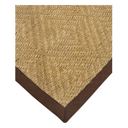 """Natural Area Rugs - """"Khazana"""" Sisal Rug, 100% Natural Fiber - All natural sisal rug handcrafted by Artisan rug maker. Naturally durable and anti-static, this earth friendly rug is great for high traffic areas. Enjoy this sisal rug with cotton border and non-slip dotted felt backing along with its stylish and contemporary look. Variations are part of the natural beauty of natural fiber. We recommend a rug pad as it will protect not only your rug but your hardwood floor as well."""