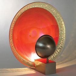 "Global Views Centerpiece Bowl Mandarin Orange - 19""Dia. x 4""H"