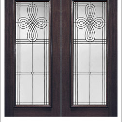 Exterior and Interior Beveled Glass Doors Model # 880 - Our Beveled Glass Doors are made of individually hand cut glass put together with metal caming.  Doors triple glazed (three pieces of glass) for insulation and they are easy to clean with a smooth surface.  Doors are available in a variety of sizes and styles. The door is constructed from FSC Brazilian Mahogany.  Interior versions of these doors are available in our Decorative Glass Doors under the interior doors category.