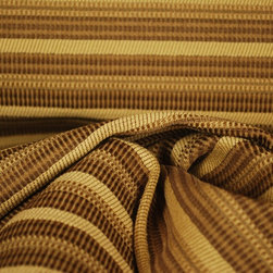 "Olive Bkgd Orange Tan Brown Chenille Herringbone Upholstery Fabric - Brown horizontal upholstery fabric.  56"" wide upholstery fabric that is heavy and durable.  Great for throw pillows, cover cushions or bar stools or use the horizontal stripe on a headboard or cornice board."
