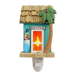 Tropical Beach House Night Light - Keep the beach theme alive at night with this fun Tropical Beach House Night Light!