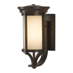 Murray Feiss - Murray Feiss Merrill Transitional Outdoor Wall Sconce X-ZBTH1057LO - The Murray Feiss Merrill Transitional Outdoor Wall Sconce conveys modernity with its sleek surface and geometric design! Ideal for a variety of architectural exteriors, this versatile light fixture can welcome guests from the home entrance, or serve as lighting for the back porch. A finish of Heritage Bronze and a shade of Creme Etched Glass completes the sophisticated look.