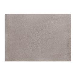 Harman, Inc. - Scribble Vinyl Placemat - Neutral platinum placement features a subtle scribble pattern that coordinates with your contemporary table.