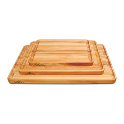 Catskill Craftsman - Professional Style Reversible Cutting Board w/ Juice Groove - Prepare food with the help of this hardwood kitchen cutting board. This premium quality accessory features a deep juice groove and oiled finish, making it both exceptionally functional and smart-looking. Reversible, this board is long-lasting.