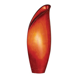 Howard Elliott - Howard Elliott Medium Scarlet Lily Vase - This medium sized wooden vase is characterized by its resemblance to a budding lily flower. It is finished in a bright brushed red lacquer.