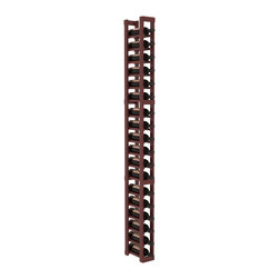 Wine Racks America - 1 Column Standard Wine Cellar Kit in Redwood, Cherry + Satin Finish - This single column of bottle storage is a perfect fit almost everywhere. The narrow format ensures you can squeeze the maximum storage capacity from any cellar layout. We construct every rack to our industry-leading standards.