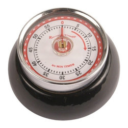 "Kikkerland - Magnetic Kitchen Timer - Features: -60 minute timer.-Width: 2.76""."