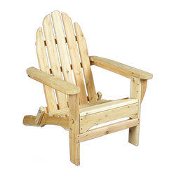 "Rustic Natural Cedar - Rustic Natural Cedar 400404 Foldable Adirondack Chair - Easily among the most popular casual outdoor furniture on the market today, our Rustic Natural Cedar Adirondack chairs are a must have. They're generously sized to provide maximum comfort and feature extra-wide arms that are just perfect for resting a book or beverage. Cedar is naturally resistant to decay, insect, and weather damage and, when left untreated, the creamy natural color weathers gracefully to a silvery grey. Height: 37""Width: 28.5""Depth: 36"" Shipping: 4 - 7 days"