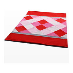 "Blancho Bedding - [Plaids - Rose Elf] Soft Coral Fleece Patchwork Throw Blanket (59""-78.7"") - This Coral Fleece Patchwork Throw Blanket measures 59 by 78.7 inches. Comfort, warmth and stylish designs. Whether you are adding the final touch to your bedroom or rec-room these patterns will add a little whimsy to your decor. This Coral Fleece Patchwork throw blanket will make a fun additional to any room and are beautiful draped over a sofa, chair, bottom of your bed and handy to grab and snuggle up in when there is a chill in the air. They are the perfect gift for any occasion! Keep one in your car for staying warm at  outdoor sporting events. Place one on your couch or favorite upholstered chair. Have extras on hand for sleepovers and overnight guests. Machine wash and tumble dry for easy care. Will look and feel as good as new  after multiple washings!"