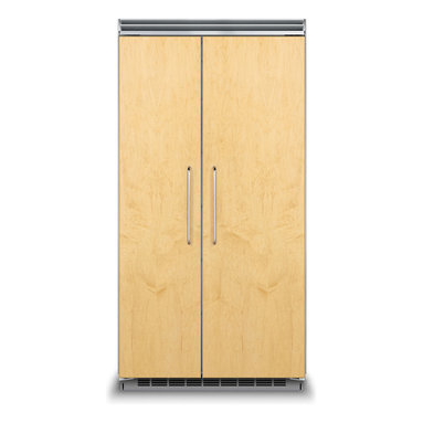 """42"""" Custom Panel Side-by-Side Refrigerator/Freezer - FDSB5423 - The 42"""" wide Custom Panel model blends seamlessly into cabinetry with locally supplied front panels. Viking Professional handles complete the look, or you may opt for custom handles. ENERGY STAR® certified."""