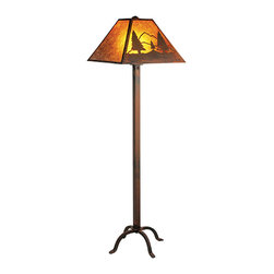 Steel Partners Inc - Floor Lamp - TIMBER RIDGE - Every piece we create is unique — handcrafted at our factory in Chehalis, Washington, USA. Due to this, lead times are 2 to 4 weeks.