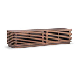 ZUO Modern - Linea TV Stand by ZUO Modern, Wide - If Frank Lloyd Wright worked in wood, it would look like the Linea series. Stripes of Walnut add an earthy style to the sleek consoles and credenza. Sold separately, the pieces come in various sizes according to the needs of your space.