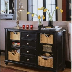 American Drew 919-925 Console Table Camden - Black