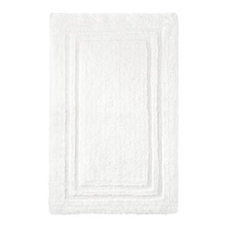 Thomas O'Brien Bath Rug, True White - Necessary elements chosen with attention to quality and detail are sure to create a space that always feels like home. For example, plush white bathroom rugs are soft and highly functional.