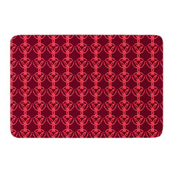 """KESS InHouse - Suzie Tremel """"Rick Rack"""" Red Orange Memory Foam Bath Mat (24"""" x 36"""") - These super absorbent bath mats will add comfort and style to your bathroom. These memory foam mats will feel like you are in a spa every time you step out of the shower. Available in two sizes, 17"""" x 24"""" and 24"""" x 36"""", with a .5"""" thickness and non skid backing, these will fit every style of bathroom. Add comfort like never before in front of your vanity, sink, bathtub, shower or even laundry room. Machine wash cold, gentle cycle, tumble dry low or lay flat to dry. Printed on single side."""