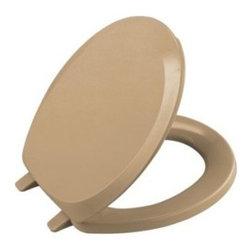 KOHLER - KOHLER K-4663-33 French Curve Round, Closed-Front Toilet Seat and Cover - KOHLER K-4663-33 French Curve Round, Closed-Front Toilet Seat and Cover in Mexican Sand