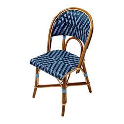 French Cafe Chairs - Add a little French flair and cafe society style to your kitchen with these fabulous woven chairs. There are multiple patterns and colors available - customize until your heart's content! Good luck picking a favorite. This is a great way to add color to a kitchen!