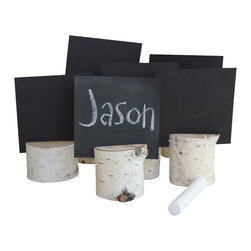 Simply Sofie - Birch Place Card Holders + Cards - These rustic placecard holders are the sole reason we've already started to plan a neighbourhood get-together we can't wait to show off our great taste.