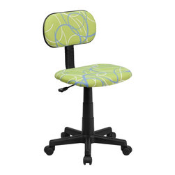 Flash Furniture - Flash Furniture Accent Chair X-GG-LRWS-TB - This attractive design printed office chair will liven up your classroom, dorm room, home office or child's bedroom. If you're ready to step out of the ordinary then this computer chair is for you! [BT-SWRL-GG]
