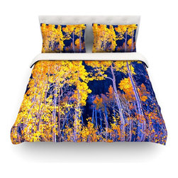 """Kess InHouse - Maynard Logan """"Trees"""" Cotton Duvet Cover (Twin, 68"""" x 88"""") - Rest in comfort among this artistically inclined cotton blend duvet cover. This duvet cover is as light as a feather! You will be sure to be the envy of all of your guests with this aesthetically pleasing duvet. We highly recommend washing this as many times as you like as this material will not fade or lose comfort. Cotton blended, this duvet cover is not only beautiful and artistic but can be used year round with a duvet insert! Add our cotton shams to make your bed complete and looking stylish and artistic! Pillowcases not included."""