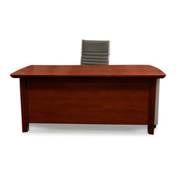 Zuri Furniture - Woodrow Wood Desk with Return and Cabinet - There is no fussing with this walnut wood grain modern desk. the adjustable return can fit your needs and the sharp clean lines present an organized appeal. Stay focused without the frills, your work is the desks main priority.