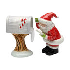 ATD - 3.25 Inch Santa Claus Checking the Mailbox Salt and Pepper Shakers - This gorgeous 3.25 Inch Santa Claus Checking the Mailbox Salt and Pepper Shakers has the finest details and highest quality you will find anywhere! 3.25 Inch Santa Claus Checking the Mailbox Salt and Pepper Shakers is truly remarkable.