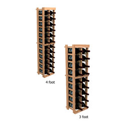 """Wine Cellar Innovations - Two Column Individual; WineMaker: Rustic Pine, Dark Walnut - 3 Ft - Each wine bottle stored on this two column individual bottle wine rack is individually cradled. All WineMaker wine racks must be mounted 1 1/2"""" off the wall to ensure proper wine bottle stability. Assembly Required."""