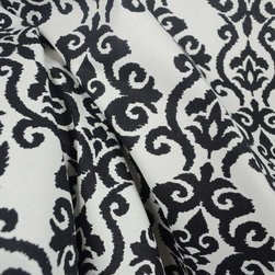 Luminary Panther Black White Damask Fabric By The Yard - Luminary Panther is a soft cotton damask fabric. Great for draperies, pillow, bedding and light upholstery projects.