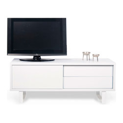 Temahome - TemaHome Nilo TV Table, Pure White - Modern flavor with exquisite minimalist design.