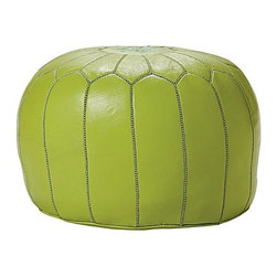 Lime Moroccan Leather Pouf - Moroccan poufs are a dime a dozen these days, but this lime green one from Serena & Lily stands out from the crowd for obvious reasons. Their selection of bold colors will take any pouf from blah to brilliant.