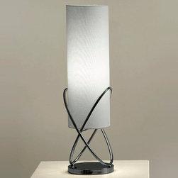 NOVA Lighting - Internal Table Lamp - Internal Table Lamp-Black Nickel, Grey Shade