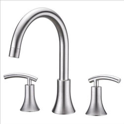 Ultra Faucets - Ultra Faucets UF65103 Two-Handle Tub Faucet - Two-handle design for precise temperature adjustment