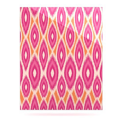 "Kess InHouse - Amanda Lane ""Pink and Orange Moroccan"" Magenta Tangerine Metal Luxe Panel (16"" x - Our luxe KESS InHouse art panels are the perfect addition to your super fab living room, dining room, bedroom or bathroom. Heck, we have customers that have them in their sunrooms. These items are the art equivalent to flat screens. They offer a bright splash of color in a sleek and elegant way. They are available in square and rectangle sizes. Comes with a shadow mount for an even sleeker finish. By infusing the dyes of the artwork directly onto specially coated metal panels, the artwork is extremely durable and will showcase the exceptional detail. Use them together to make large art installations or showcase them individually. Our KESS InHouse Art Panels will jump off your walls. We can't wait to see what our interior design savvy clients will come up with next."