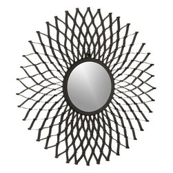 Dahlia Wall Mirror - I really like this gorgeous Dahlia mirror. I would use it above the headboard in my master bedroom. It adds interest and fun to any space.