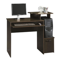 Sauder - Sauder Office Beginnings Wood Computer Desk in Cinnamon Cherry - Sauder - Computer Desks - 408726 - Built with exacting detail and available in several popular finishes. The Beginnings line is a fresh concept - good looking furniture at a great value that does the job in any setting. Perfect for new businesses young people kids' rooms basements or anywhere that requires an affordable solution.