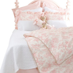Glenna Jean - Isabella Toile Duvet Cover - The Isabella Duvet Cover by Glenna Jean will make a great addition to any girl's room. This gorgeous toile duvet cover is available in a Twin and Full/Queen size.