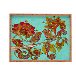 DENY Designs - Valentina Ramos Hello Birds Rectangular Tray - With DENY'S multifunctional rectangular tray collection, you can use it for decoration in just about any room of the house or go the traditional route to serve cocktails. Either way, you'll be the ever so stylish hostess with the mostess!