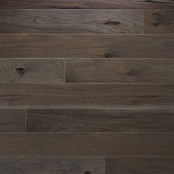 "Character Collection: Hickory Ember - Available in ¾"" x 3 ¼"", 4"" or 5"" Solid or ½"" x 3 ¼"" or 5"" Engineered – Random lengths up to 6 ½' – Eased Edge and End – Ultimate UV-Cured Aluminum Oxide Urethane Finish – 50 year Finish and Lifetime Structural Warranty"