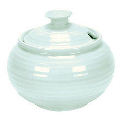 Portmeirion - Sophie Conran Celadon Covered Sugar Jar Multicolor - 433113 - Shop for Sets from Hayneedle.com! Hello sugar ... you've met your match in the Sophie Conran Celadon Covered Sugar Jar. This simple yet stylish jar will keep this common condiment close by while blending beautifully with the rest of your coffee or tea service. Plus you'll love the easy cleanup it's microwave- and dishwasher-safe.About PortmeirionStrikingly beautiful eminently practical refreshingly affordable. These are the enduring values bequeathed to Portmeirion by its legendary co-founder and designer Susan Williams-Ellis. Her father architect Sir Clough Williams-Ellis was the designer of Portmeirion the North Wales village whose fanciful architecture has drawn tourists and artists from around the world (including the creators of the classic 1960s TV show The Prisoner). Inspired by her fine arts training and creation of ceramic gifts for the village's gift shop Susan Williams-Ellis (along with her husband Euan Cooper-Willis) founded Portmeirion Pottery in 1960. After 50+ years of innovation the Portmeirion Group is not only an icon of British design but also a testament to the extraordinarily creative life of Susan Williams-Ellis.The style of Portmeirion dinnerware and serveware is marked by a passion for both pottery manufacturing and trend-setting design. Beautiful tactile nature-inspired patterns are a defining quality of Portmeirion housewares from its world-renowned botanical designs modeled on antiquarian books to the breezy natural colors of its porcelain and earthenware. Today the Portmeirion Group's design legacy continues to evolve through iconic brands such as Spode the Pomona Classics collection and the award-winning collaboration of Sophie Conran for Portmeirion. Sophie Conran for Portmeirion:Successful collaborations have provided design inspiration throughout Sophie Conran's life. Her father designer Sir Terence Conran and mother food writer Caroline Conran have been the p
