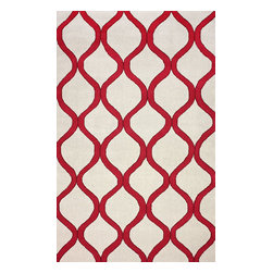 """nuLOOM - Contemporary Outdoor 7' 6"""" x 9' 6"""" Wine Hand Hooked Area Rug Trellis NO10 Indoor - Made from the finest materials in the world and with the uttermost care, our rugs are a great addition to your home."""