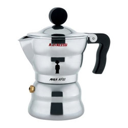 Alessi - Moka Alessi Stovetop Espresso by Alessi - The Alessi Moka Alessi Stovetop Espresso is a tribute to Alfonso Bialetti who, in the 1930s, invented, designed and manufactured the Moka Express, the popular Italian espresso coffee maker. The Alessi rendition of the traditional piece formalizes a classic ritual, modernizing the cultural pastime while keeping it intimate and familiar. Alessi, known as the Italian design factory, has manufactured household products since 1921. The stylish and fun items offered are the result of contemporary partnerships with some of the world's best designers of unique and modern home accessories.