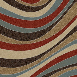 Ottomanson - Multi-Color Contemporary Weaves Design Area Rug - Manhattan Collection offers a wide variety of machine made modern design area rugs with high, durable, stain-resistant pile in trendy colors.