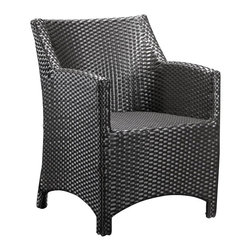 ZUO - Zuo Mykonos Outdoor Chair - Sit in the sun, with a hat or sunscreen on, and you and your chair will both be protected from the rays. The UV basket weave makes this indoor/ outdoor armchair a modern choice for your patio, garden or terrace. Add a comfy pillow and footstool and you will be set for a relaxing spell.