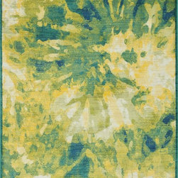 "Loloi Rugs - Loloi Rugs Lyon Collection - Greengage, 3'-9"" x 5'-2"" - If you enjoy admiring artwork on the wall, you may want to consider the Lyon Collection as as painterly masterpiece for your floor. From Egypt, these contemporary rugs have been inspired by Western European and South American watercolor paintings. And because they're power loomed of 100% polypropylene, a durable and stain resistant fiber, the colors will remain vibrant for years ahead."